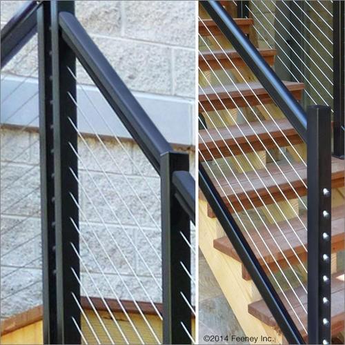 Feeney® Designrail® 72 Aluminum Rail Kit For Stair Railings At | Aluminum Railings For Steps | Verandah | Glass Railing | Pipe | Indoor | Glass Panel Wooden Handrail