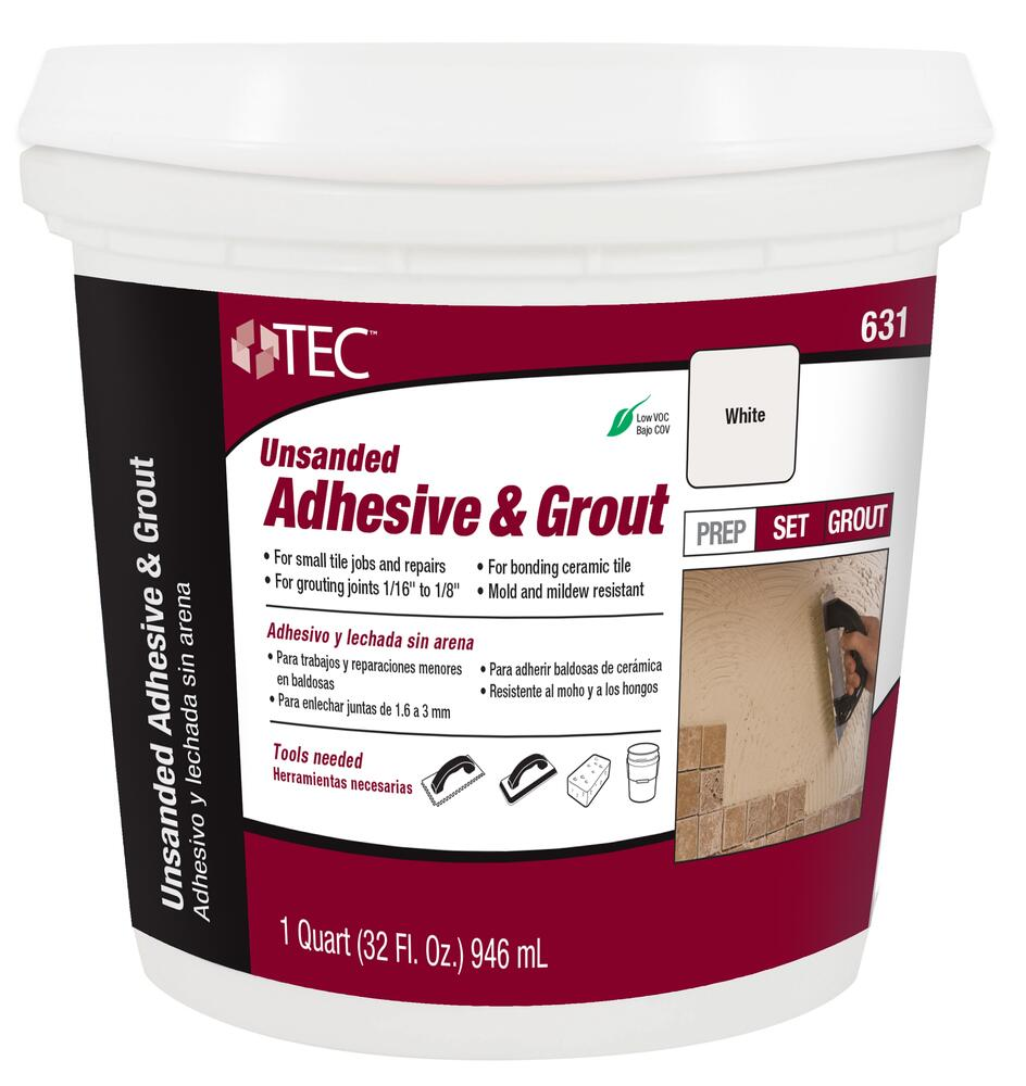 tec unsanded premixed adhesive grout