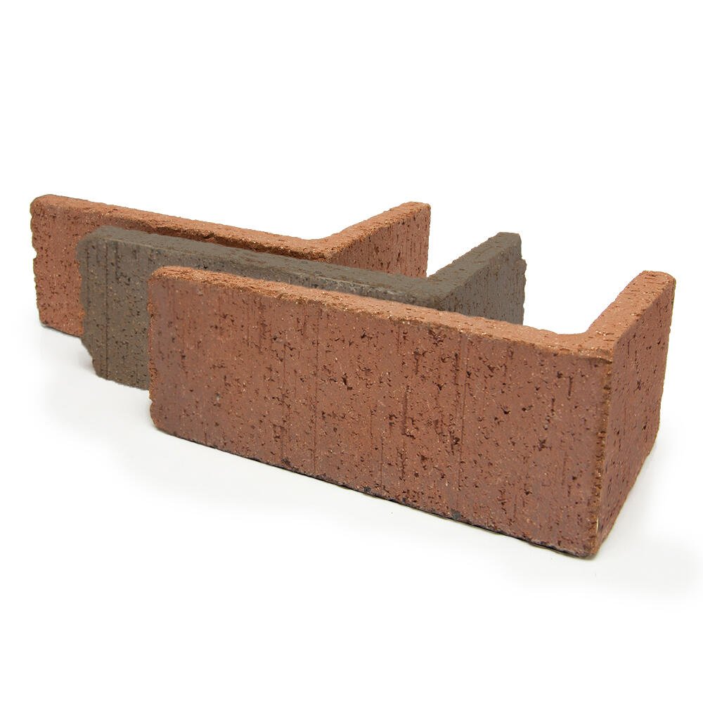 tumbled thin brick quarry veneer corner