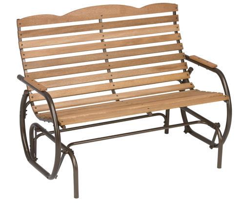 hardwood double patio glider at menards