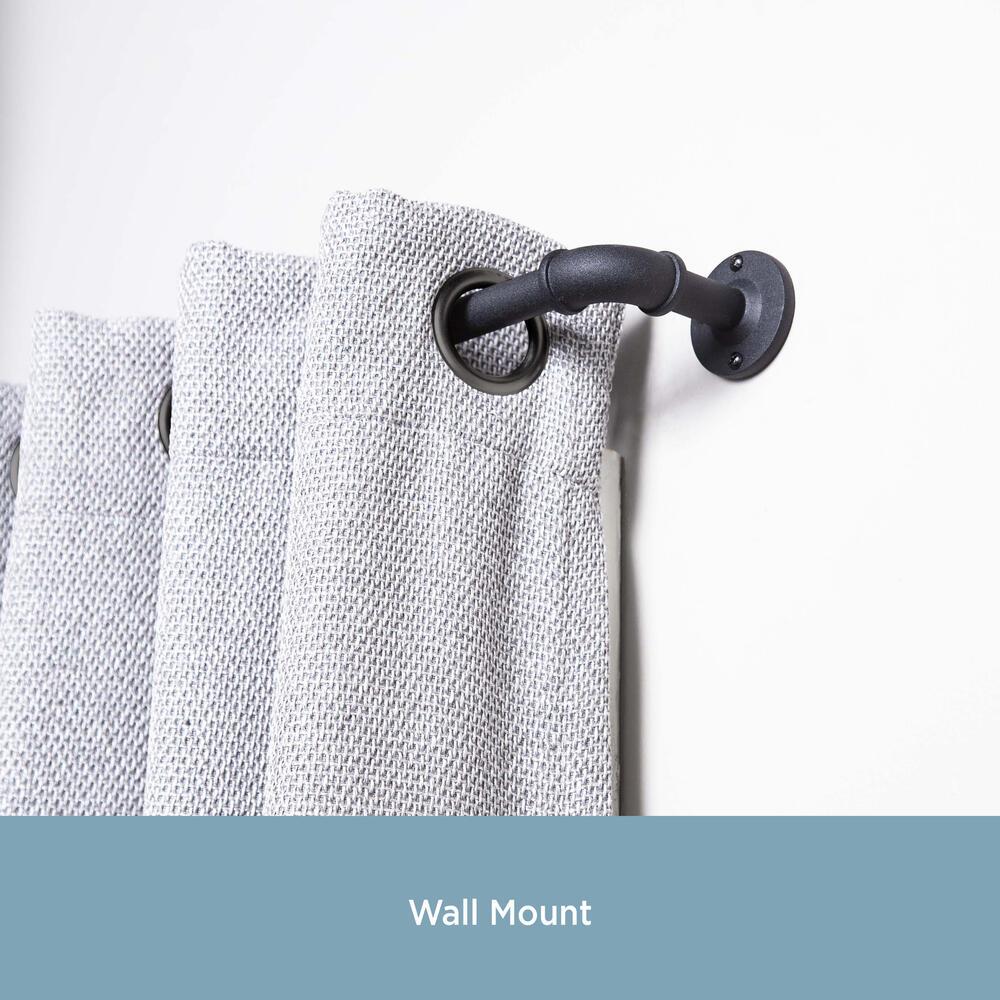 bronn industrial decorative curtain rod