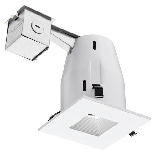 led square recessed white downlight