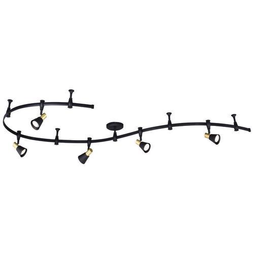 arthur 5 light black led flexible track