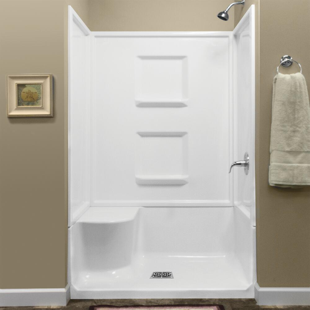 seated shower base with center drain