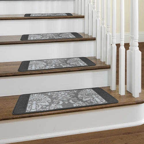 Multy Home™ Castle Hill 9 X 26 Nylon Stair Tread At Menards® | Grey Wood Stair Treads | Coloured | Marble | Low Cost | Gray Color | Porcelain