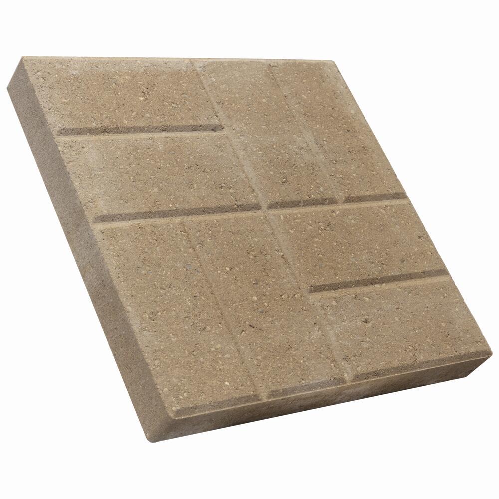 16 x 16 brickface patio block at menards