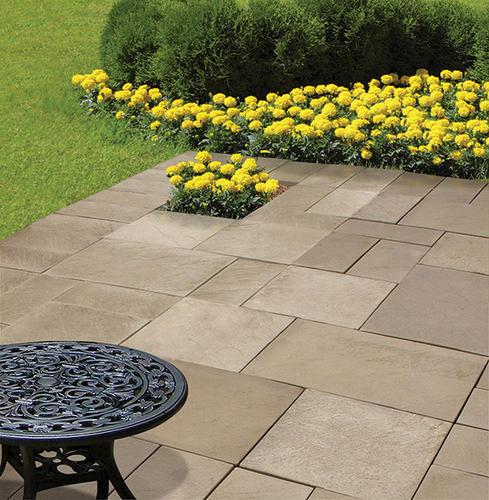 8 x 16 wetcast yorkstone patio block at