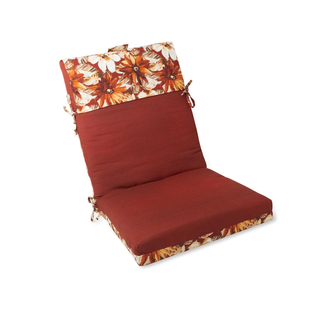 sangria floral reversible patio chair