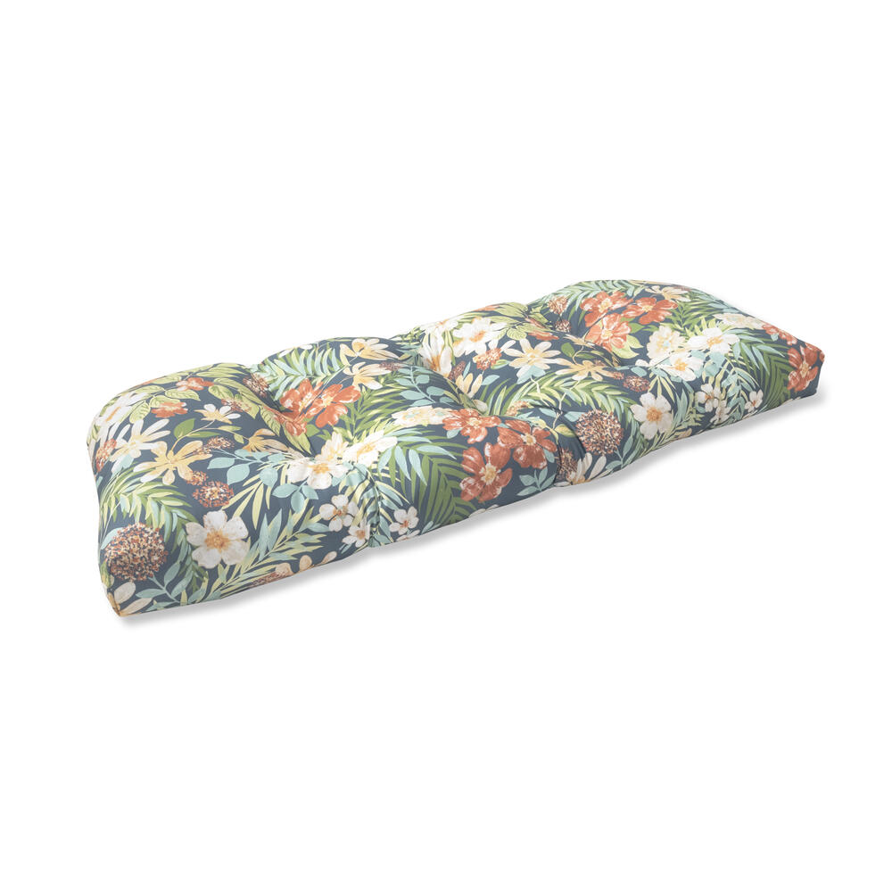 karina floral tufted patio settee