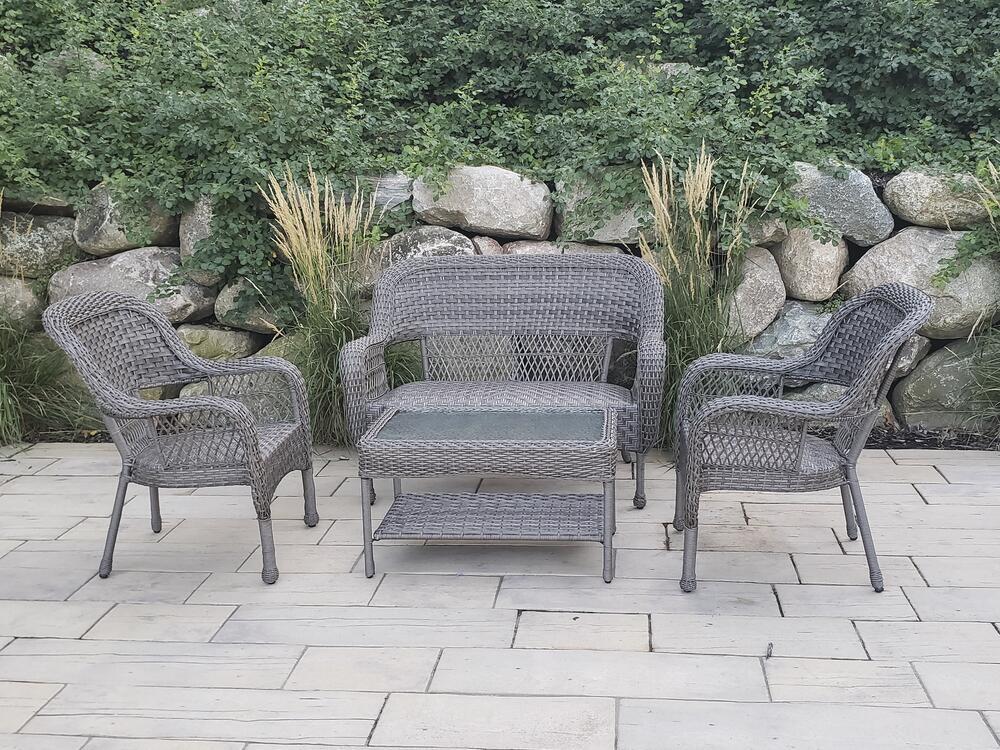 backyard creations huxley gray 4 piece
