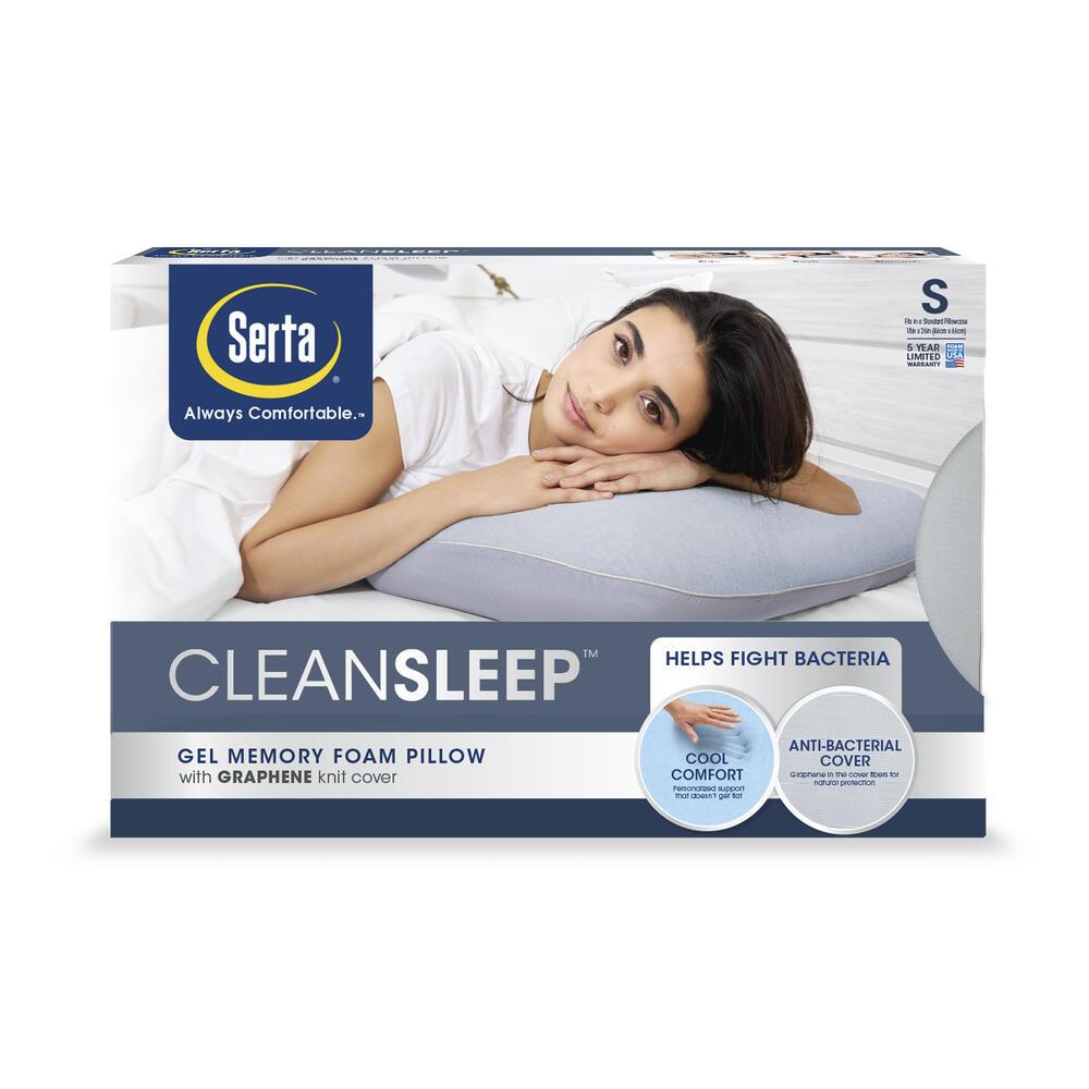 clean sleep gel memory foam pillow at