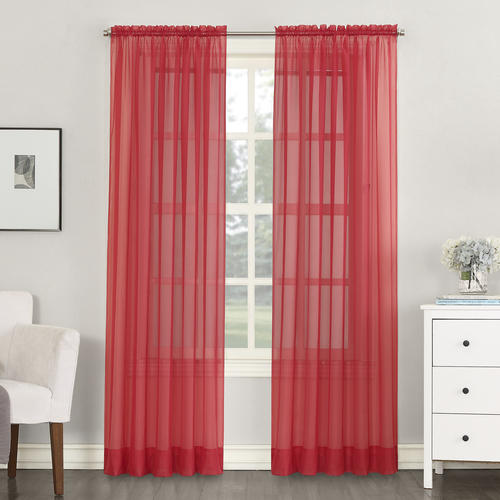 no 918 emily 59 w x 63 l sheer rod pocket curtain panel at menards