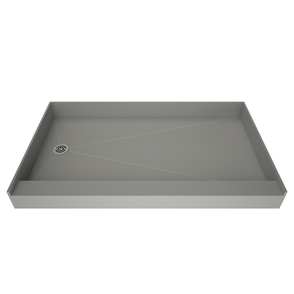 redi base single curb shower pan with