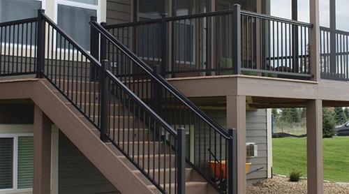 Williams Preassembled Powder Coated Aluminum Railing Panel | Menards Interior Stair Railing
