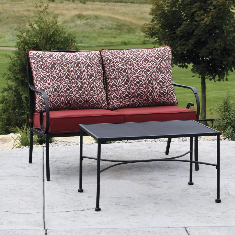 wrought iron 2 piece seating patio set