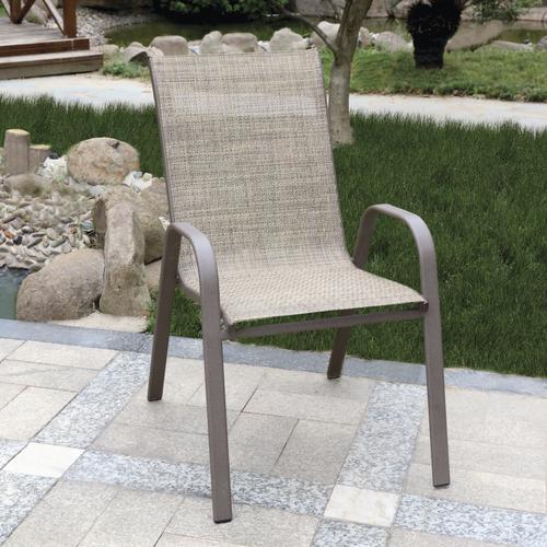 larissa tan wicker stack patio chair at