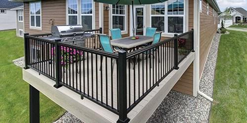 Exterior Railings Gates At Menards® | Outdoor Balustrades And Handrails | Timber | Railing | Verandah | Beautiful | Industrial Hand