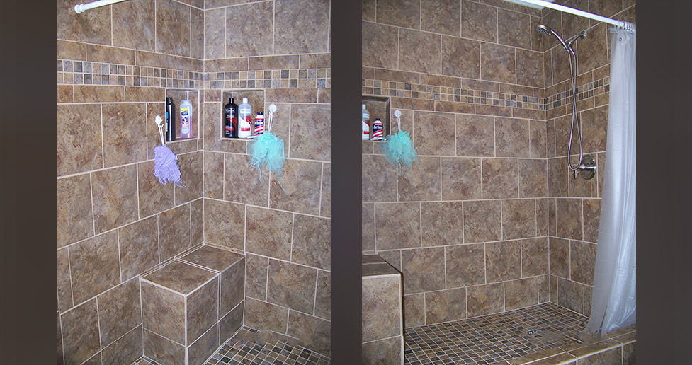 elegant tile shower project by mike