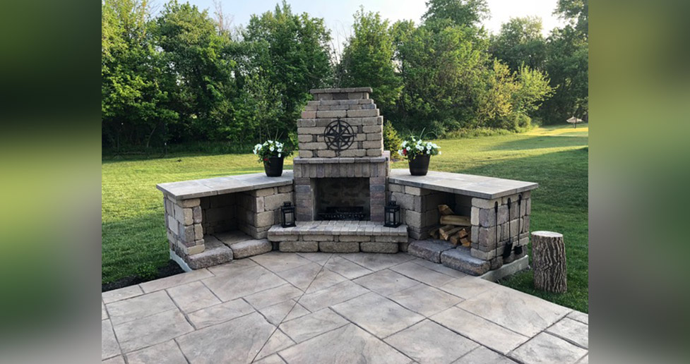 outdoor fireplace project by kelly at