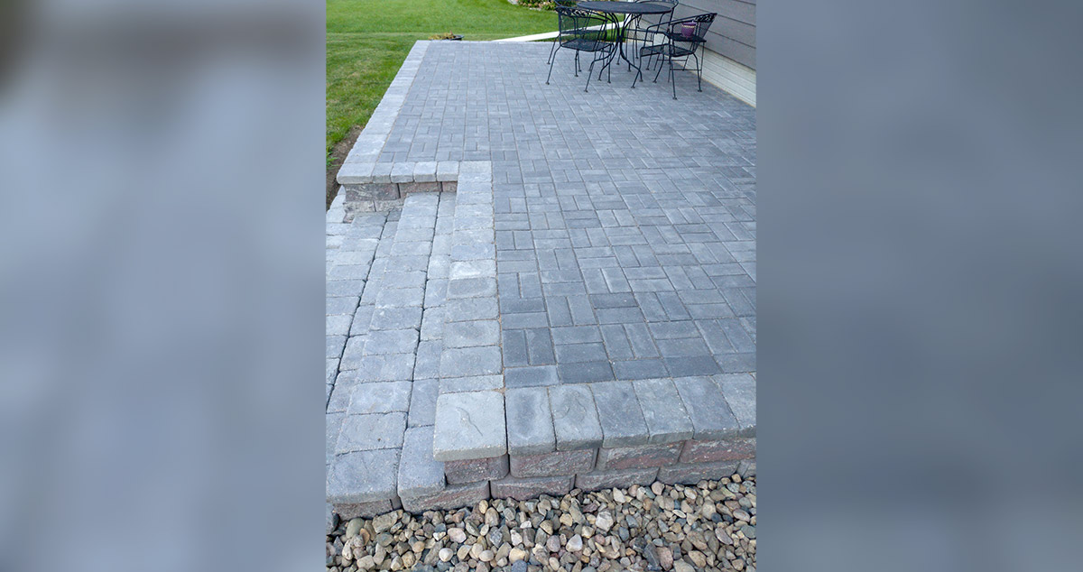 raised paver patio project by mark at
