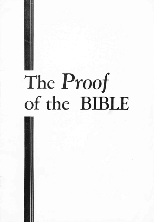 The Proof of the Bible