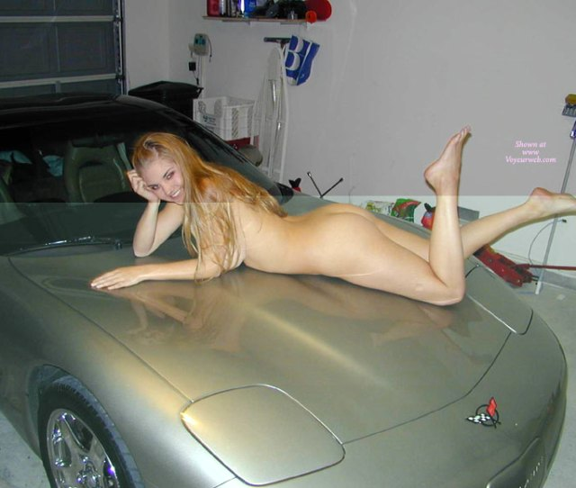 Nude With Hot Ass And Legs On Car Hood Blonde Hair Naked Girl