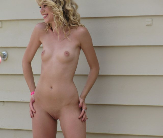 Skinny Nude Blond Girl With Very Small Tits