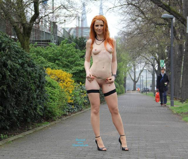 Redhead Vienna Nude In Public Wearing Heels Erect Nipples Exposed In Public Firm