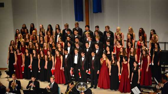 Choir students sing at annual winter concert (video)