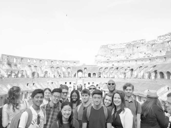 Students travel to Rome