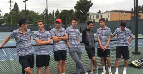 Boys' tennis cruises through opening round of CIF on senior night