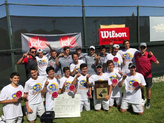 Boys' tennis wins CIF-SS DI championship