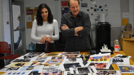 Ready, set, design: set designer visits classes and discusses work with students