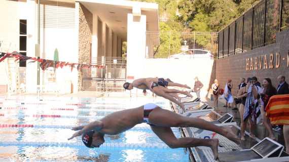 Girls' and Boys' swimming teams beat Chaminade