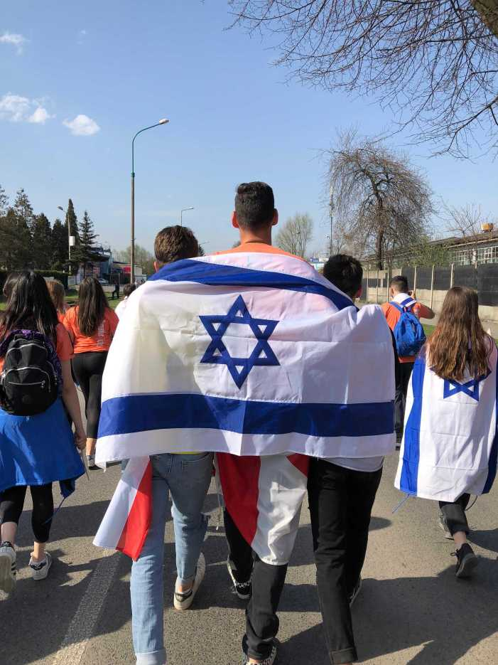 Students celebrate Israel's 70th birthday, remember the Holocaust at annual March of the Living trip