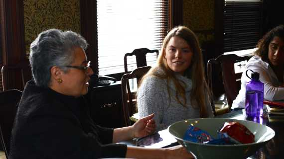 Senior conducts meeting on gun violence
