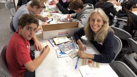 Students, parents volunteer at Operation Gratitude