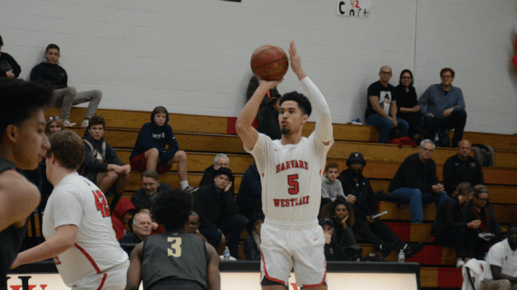 Boys' basketball wins over St. Francis on senior night