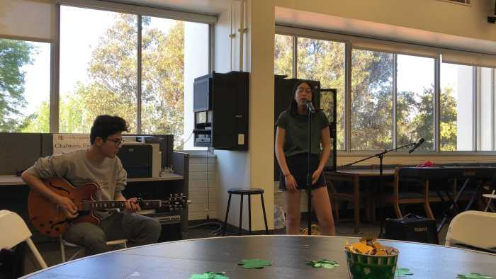 Students perform at St. Patrick's themed Coffeehouse