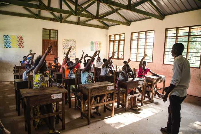 Kenyan elementary students acquire tables through school fundraiser