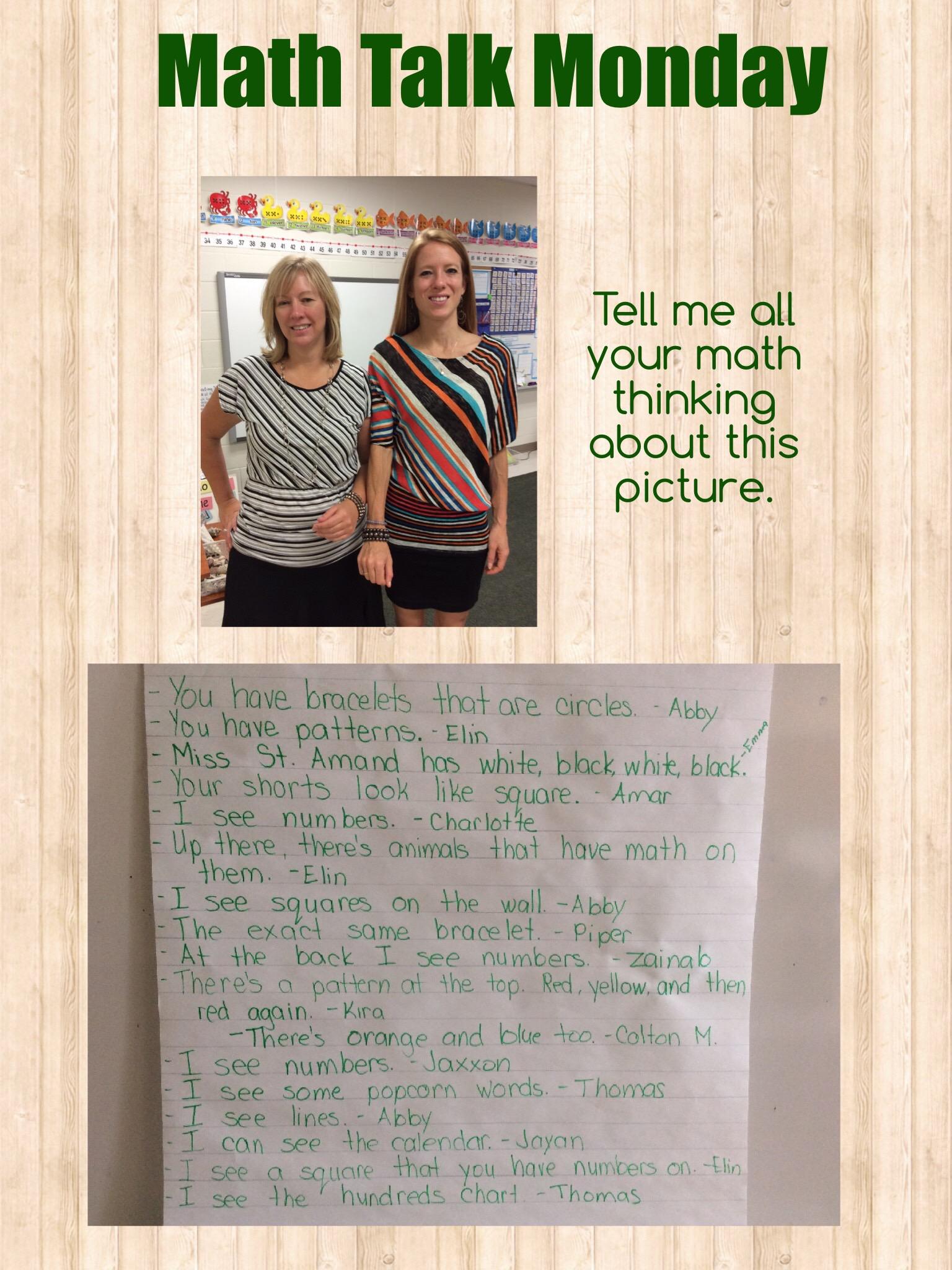 Math Talk Monday