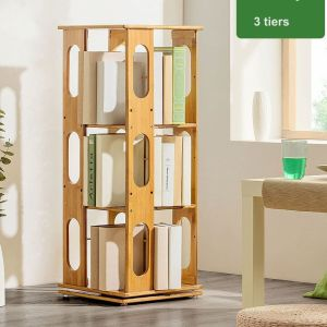 rotating bookcase bookshelf