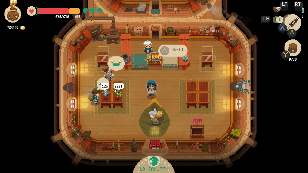 A view of the protagonist's shop