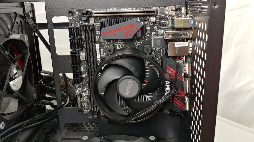 alternate angle of motherboard