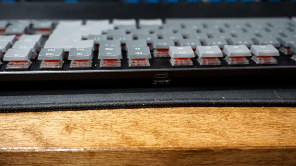 K1 with low-profile Gateron reds