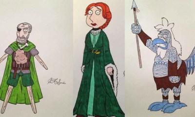 Family Guy karakterleri Game of Thrones'ta olsalardı