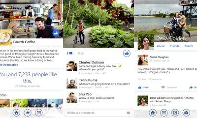 Facebook'un yeni Windows Phone uygulaması