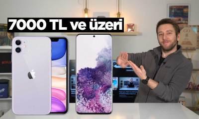 7000 TL üzeri en iyi akıllı telefonlar 2020