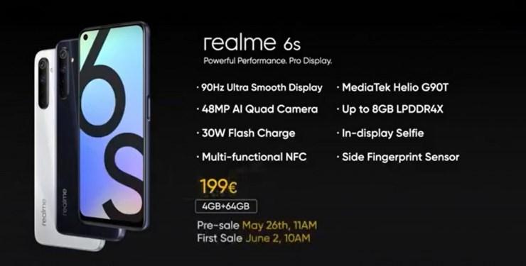 Realme 6s özellikleri