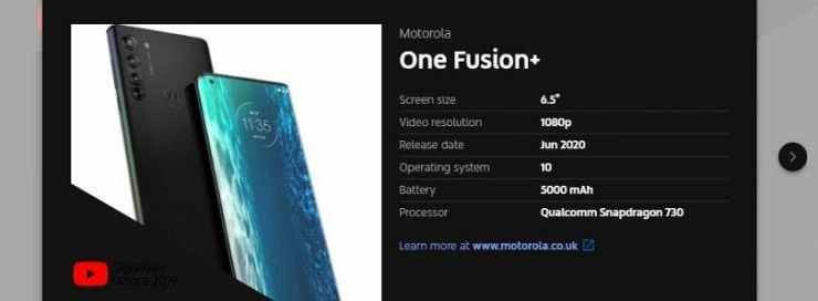 Motorola one fusion plus iii